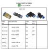 Pneumatic Fitting Push In - Inch Size connector Pneumatic Fitting - Push In Fitting