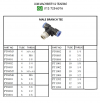 Pneumatic Fitting Push In - Male Branch Tee Pneumatic Fitting - Push In Fitting