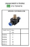 Pneumatic Fitting Push In - Speed Controller(tube to tube) Pneumatic Fitting - Push In Fitting