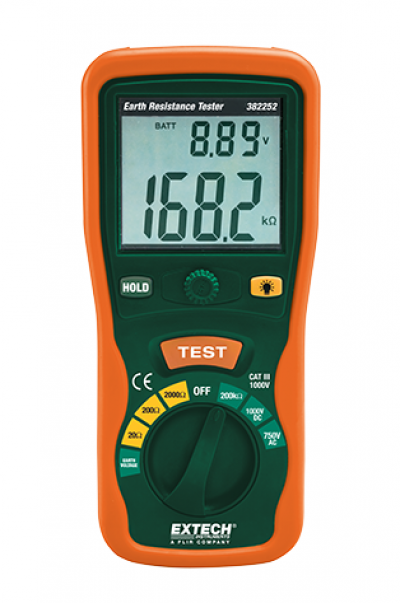 EXTECH 382252 : Earth Ground Resistance Tester Kit