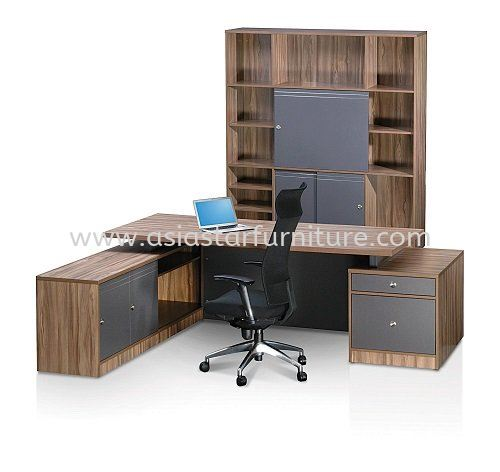ZARAMO EXECUTIVE DIRECTOR OFFICE TABLE WITH SIDE OFFICE CABINET & HIGH OFFICE CABINET