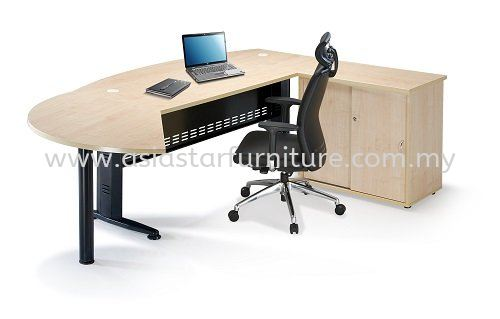 QAMAR EXECUTIVE OFFICE TABLE/DESK COMBINATION SET AQMB 180A (Maple Color) - execuitve office table Shah Alam | execuitve office table Glenmarie | execuitve office table Setia Alam | execuitve office table Subang