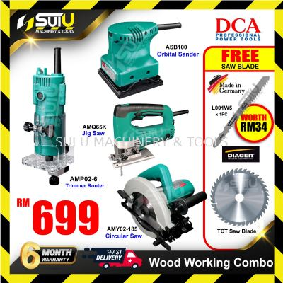DCA Wood Working Combo ASB100 + AMQ65K+ AMP02-6 + AMY02-185