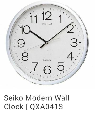 SEIKO MODERN WALL CLOCK /QXA-041S