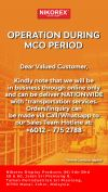 OPERATION DURING MCO PERIOD