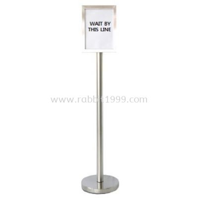RABBIT STAINLESS STEEL A4 SIGN BOARD STAND - vertical - SBS-023/SS