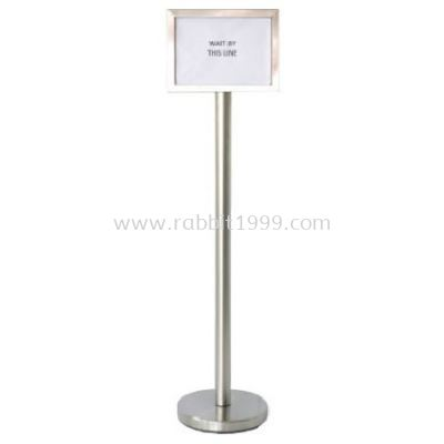 RABBIT STAINLESS STEEL A4 SIGN BOARD STAND - horizontal - SBS-022/SS