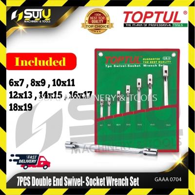 TOPTUL GAAA0704 7PCS Double End Swivel -Socket Wrench Set