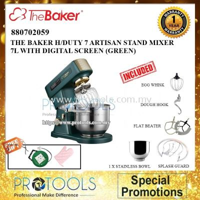 THE BAKER H/DUTY 7 ARTISAN STAND MIXER 7L WITH DIGITAL SCREEN (880702059)