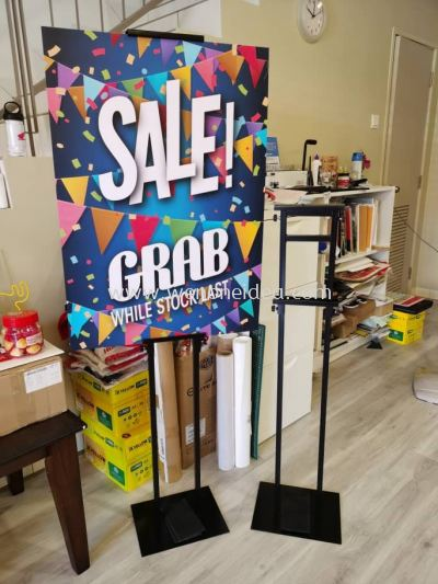 Adjustable Height Poster Stand
