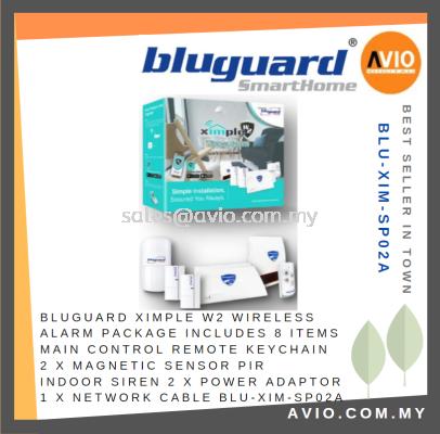 Bluguard Security Burglar Wireless Alarm XIMPLE W2 Package Set 8 Item Include BLU-XIM-SP02A