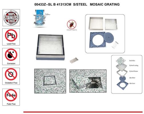 SL  41313CM  S/STEEL MOSAIC GRATING -00433Z