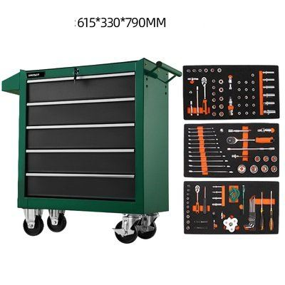5 Drawer Cart With Tools 121pcs 615x330x790mm ID32106