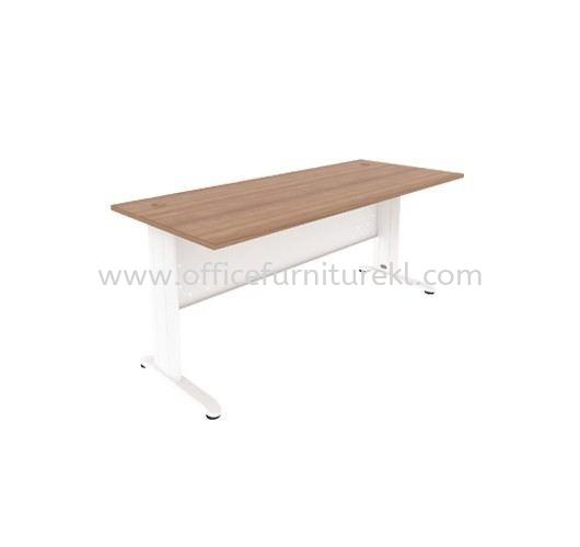 JOY WRITING OFFICE TABLE / DESK METAL J-LEG MJM 1875 (Color Cappuccino) - office table Cheras   office table Pandan Indah   office table Kelana Jaya   office table Top 10 Promotion Price