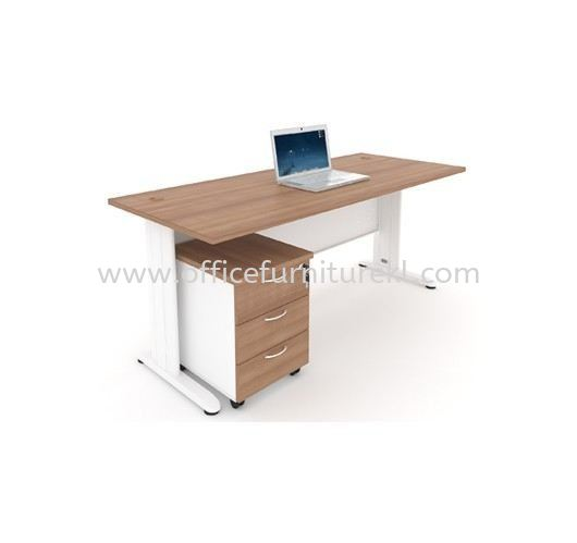 JOY WRITING OFFICE TABLE / DESK METAL J-LEG & MOBILE PEDESTAL 3D MJM 1875 (Color Cappuccino) - office table Setiawangsa   office table Serdang   office table Segambut   office table Top 10 Most Popular