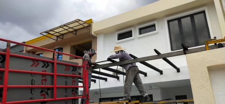 To Fabrication Awning Pergola T-beam Design Acp @ Jalan Burung Takur, Taman Bukit Maluri Kepong, 52100 Kuala Lumpur.