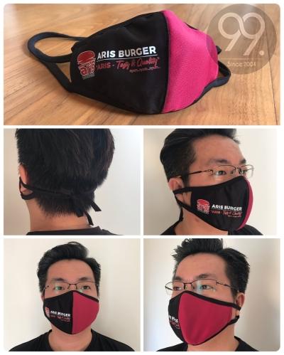Custom-made 3Layer Fabric Face Mask  (Head Loop)
