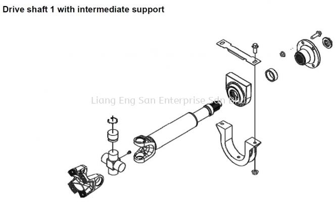 DRIVE SHAFT 1 WITH INTERMEDIATE SUPPORT