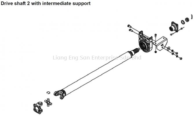 DRIVE SHAFT 2 WITH INTERMEDIATE SUPPORT