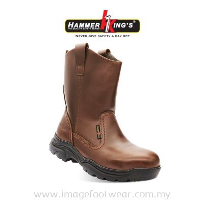 HAMMER KING'S Normal Safety 13021 Mens Shoes High Cut Pull-up Steel Toe Cap Leather Working Shoes