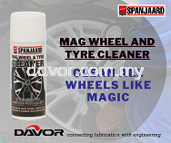 Powerful cleaner for all types of alloy wheels and tyres