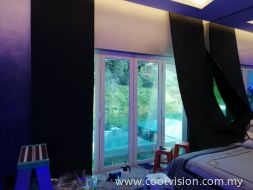 Privacy Tinted Film : Reflective Film ( Silver )