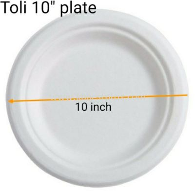 """Toli 10"""" PS Plate 50's+/-"""