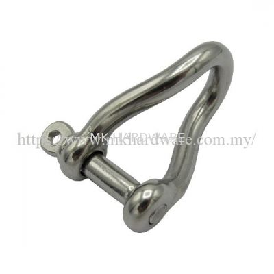 STAINLESS STEEL TWIST SHACKLE WITH LOCKING PIN