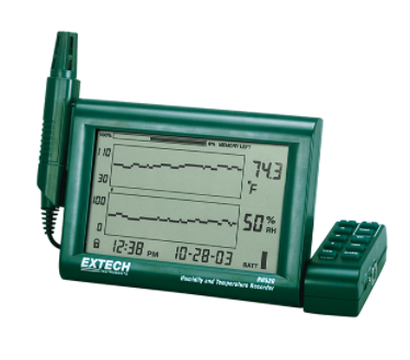 EXTECH RH520A-220 : Humidity+Temperature Chart Recorder with Detachable Probe (220V)