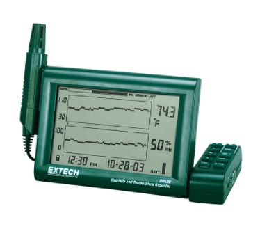 EXTECH RH520A-240 : Humidity+Temperature Chart Recorder with Detachable Probe (240V)