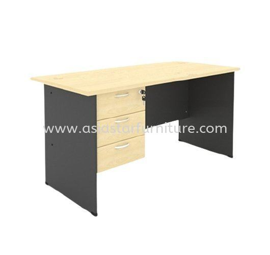 4' Office Table/desk | Study Table | Computer Table c/w Hanging Drawer (Color Maple) - study/office table Kuchai Lama | study/office table Bangsar | study/office table Kelana Jaya | study/office table Cheras | study/office table Ampang