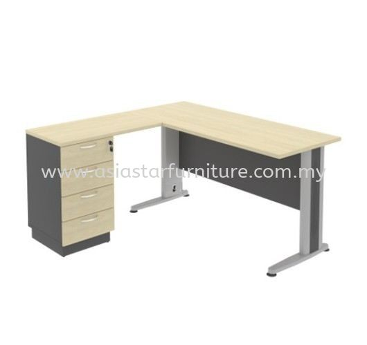 TITUS 4' Office Table With Side Drawer - Office Furniture Manufacturer Kl-Selangor-Malaysia | office table Sungai Buloh | office table Subang2 | office table Direct Factory Price
