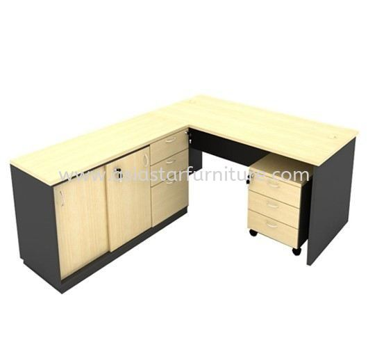 5' OFFICE TABLE C/W SIDE CABINET & MOBILE PEDESTAL 3D SET - Top 10 Best Budget office table set  | Top 10 Best Recommended office table set | Selling Fast office table set | office furniture Table Manufacturer KL-Selangor-Malaysia