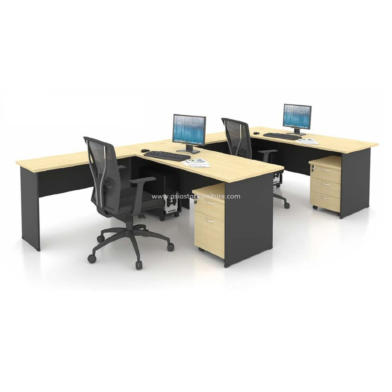 5' OFFICE TABLE | COMPUTER TABLE | STUDY TABLE C/W SIDE TABLE AND DRAWER 1D1F SET - office table Bukit Jalil | office table Taman Sea | office table Kuchai Lama | office table Old Klang Road