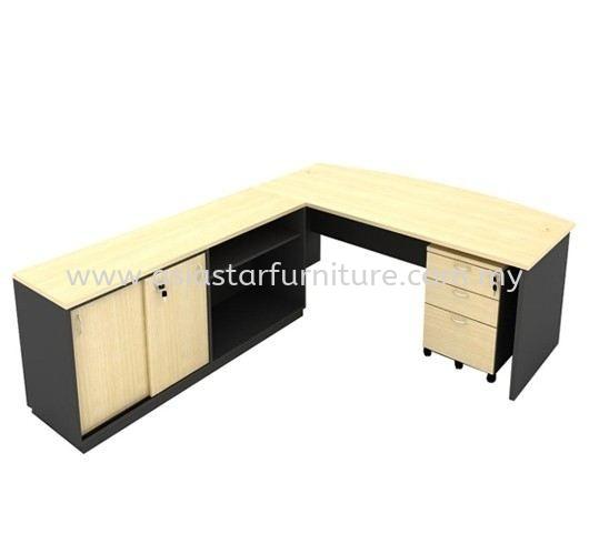 6' EXECUTIVE OFFICE TABLE C/W DUAL SIDE CABINET & MOBILE DRAWER 2D1F SET - office table set Bukit Jelutong   office table set Rawang   office table set  Puncak Jalil   office table set Kelana Jaya