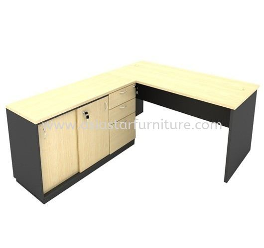 5' OFFICE TABLE/STUDY TABLE C/W SIDE CABINET + FIXED DRAWER 2D1F - office table Rawang | office table Selayang | office table Kepong | office table Segambut