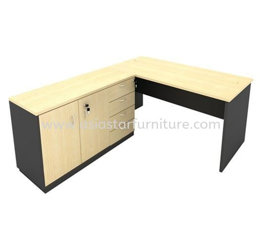 5' Office Table/Desk | Computer Table | Study Table c/w Side Cabinet & Drawer - office table Kepong | office table Cheras | office table Bangsar | office table Equine Park Seri Kembangan