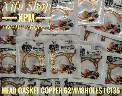 HEAD GASKET RACING COPPER 8HOLES 12251-LC135-62MM-8H-C LC135 /SPARK 135 10139191 L-NCA