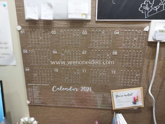 Customize Clear Acrylic Calendar A2 Size