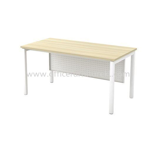 MUPHI WRITING OFFICE TABLE / DESK (W/O TEL CAP) ASMT 126 (Color Boras Ash) - office table Bukit Jalil | office table Selayang | office table Ampang | office table Mid Year Sale