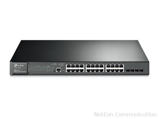 T2600G-28MPS (TL-SG3424P) JetStream 24-Port Gigabit L2 Managed PoE+ Switch with 4 SFP Slots