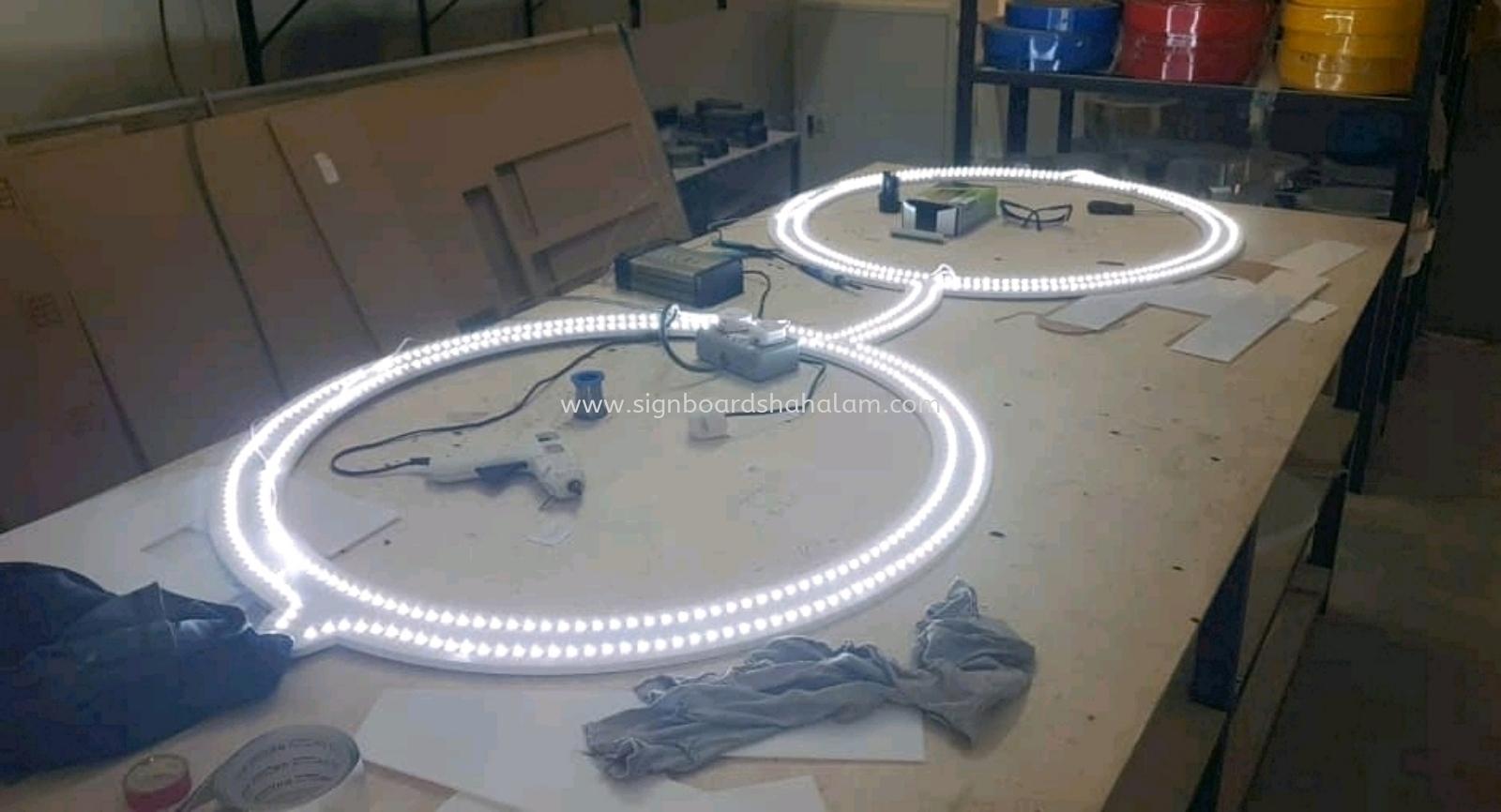 3D Box Up LED Fronlit Signboard