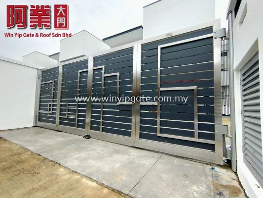 S.steel trackless gate&Fully aluminium trackless gate