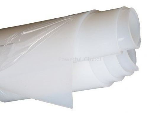 Silicone Rubber Sheet Natural White 1mm Thickness