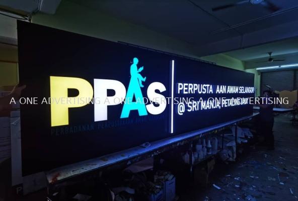 'PPAS' Led frontlit borderless with Poly base
