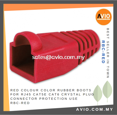 Red Colour Color Rubber Boots for RJ45 Cat5e Cat6 Crystal Plug Connector Protection use RBC-RED