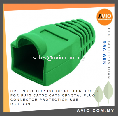 Green Colour Color Rubber Boots for RJ45 Cat5e Cat6 Crystal Plug Connector Protection use RBC-GRN