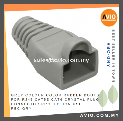 Grey Colour Color Rubber Boots for RJ45 Cat5e Cat6 Crystal Plug Connector Protection use RBC-GRY