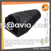 Black Colour Color Rubber Boots for RJ45 Cat5e Cat6 Crystal Plug Connector Protection use RBC-BLK CABLE / POWER/ ACCESSORIES