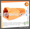 Orange Colour Color Rubber Boots for RJ45 Cat5e Cat6 Crystal Plug Connector Protection use RBC-ORG CABLE / POWER/ ACCESSORIES